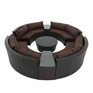 Runde Rattanmöbel, Polyrattan Lounge rund, runde Polyrattan Loungemöbel