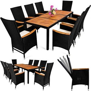 Rattan Sitzgruppe 10-teilig, Gartenmöbel für 10 Personen aus Polyrattan, Rattan Gartenmöbel 10-teilig, 10 Personen Rattan Gartenlounge