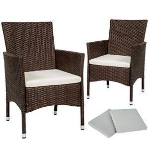 Gartensessel für 2 Personen, Polyrattan Sessel 2er Set, Gartensessel 2er Set aus Rattan, Rattan Gartensessel für 2 Personen