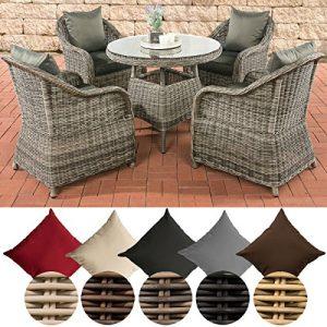 Gartensessel für 4 Personen, Polyrattan Sessel 4er Set, Gartensessel 4er Set aus Rattan, Rattan Gartensessel für 4 Personen